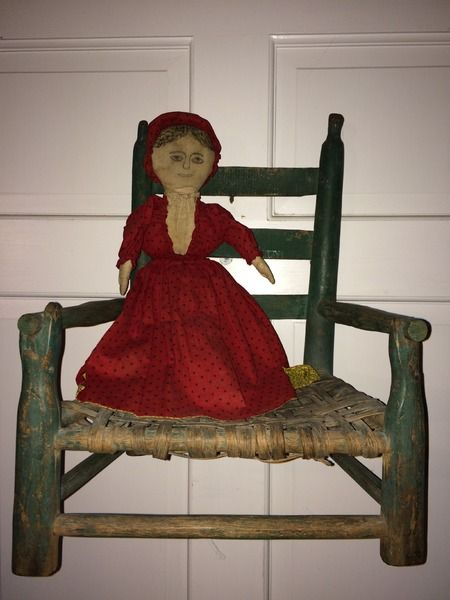 Painted+child's+or+doll+chair+
