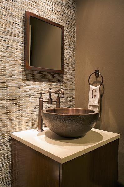 Powder bath modern powder room dallas by three graces - Pinterest The World S Catalog Of Ideas