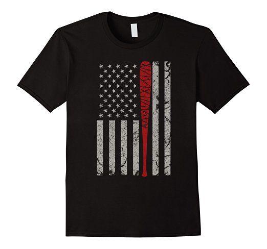 Amazon.com: Vintage American Flag Barbed Wire Bat T-shirt $19.99