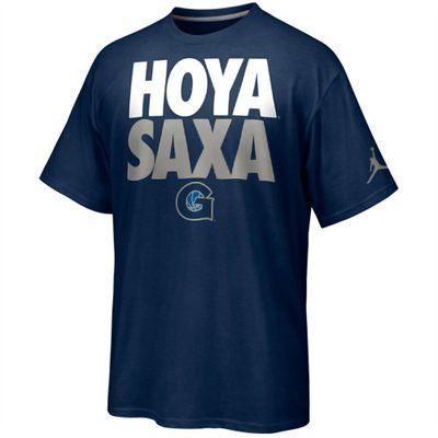 Nike Georgetown Hoyas Rise & Roar Hoya Saxa T-Shirt - Navy Blue