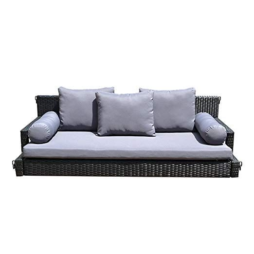Patio Porch Swing Bed Chair Resin, Wickertree Patio Furniture