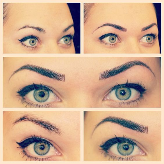 Eyebrows Before & Immediately After #permanentcosmetics #permanentmakeup #perfectbrows