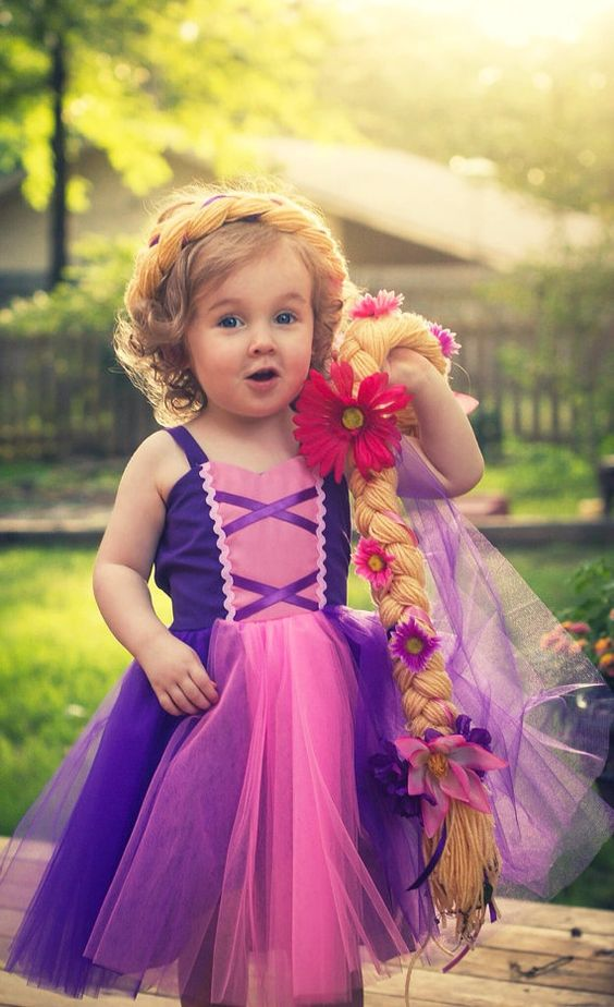 RAPUNZEL  dress retro  TUTU princess dress from Lover Dovers for toddlers and girls fun for special occasion or birthday party costume