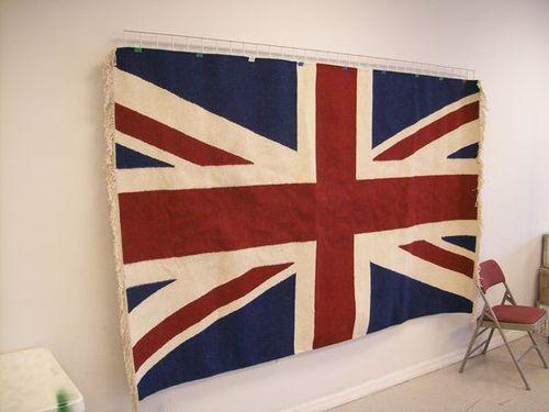 Rug Union Jack Kilim Flag Carleton Varney 5 x 8 Ft   eBay
