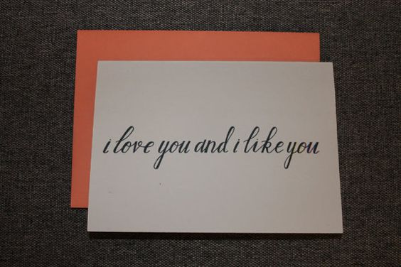 I Love You and I Like You Card. Love Card. by LetterstoHuckleberry
