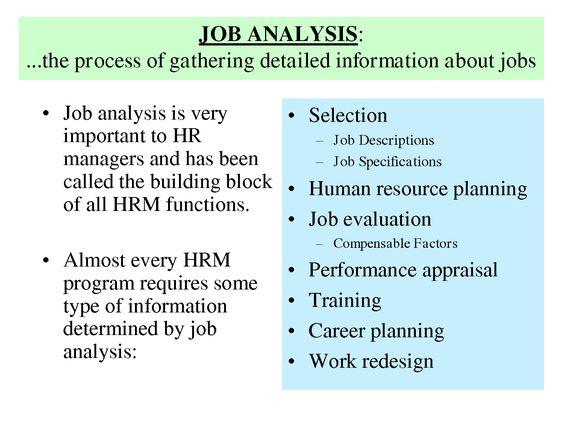 History Of Job Analysis Job analysis is very u2022 Selection - human resource management job description