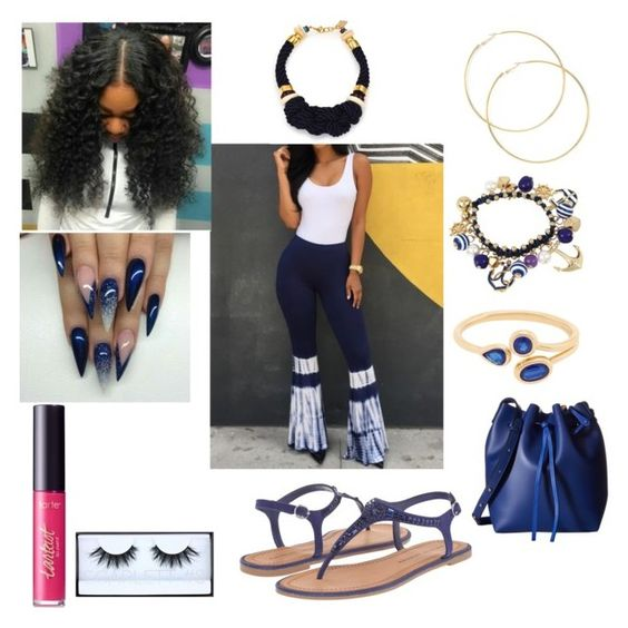 """I.M.Y- Kodak Black"" by mirah123 ❤ liked on Polyvore featuring Lizzie Fortunato, Huda Beauty, Chinese Laundry, tarte, bleu and Gabriella Rocha"