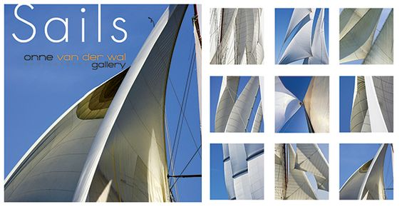 """NEW! Sail Series Notecards! Featuring 9 images of sail details on 5""""square cards in a boxed set of 18 blank cards and envelopes."""