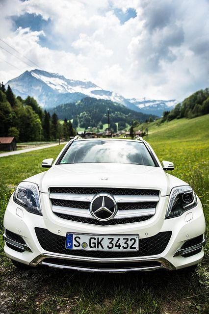 Mercedes Benz GLK exterior in the mountains, via Flickr.