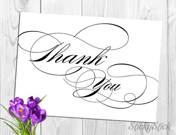 Thank You Sign for Your Wedding Reception Printable by StickyStick, $5.00