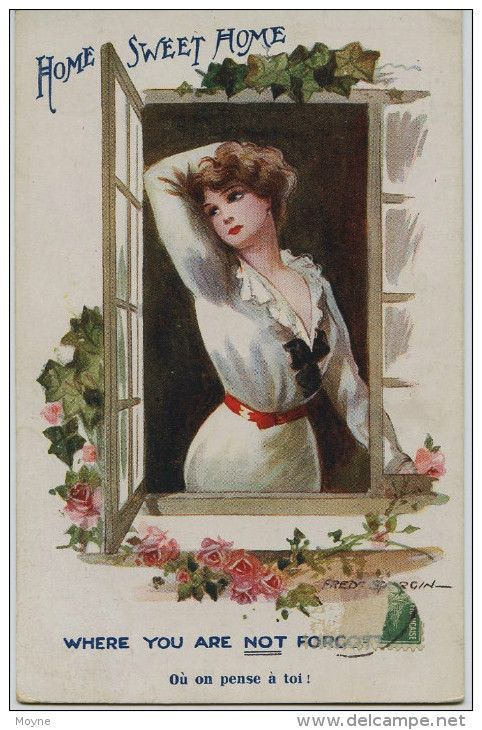 11 - 1498 - Illustrateur :  FRED SPURGIN - HOME SWEET HOME  -  circulée en 1916:
