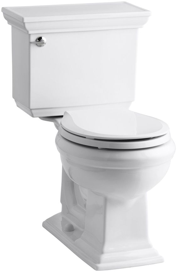 Memoirs Stately Comfort Height Two-Piece Round-Front 1.28 GPF Toilet with Aquapiston Flush Technology, Left-Hand Trip Lever and Insuliner Tank Liner