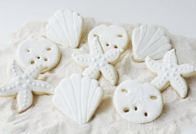 sand dollar and starfish cookie decorating tutorial - wanna do it