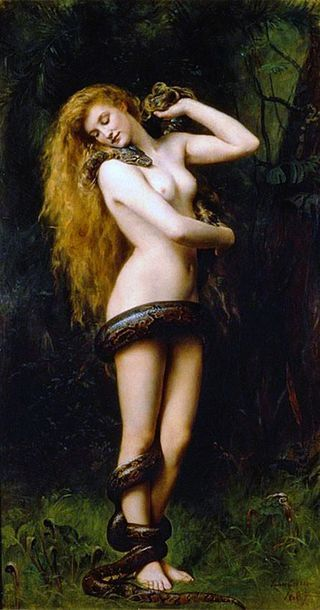 Lilith (John Collier painting) - Demon - Wikipedia