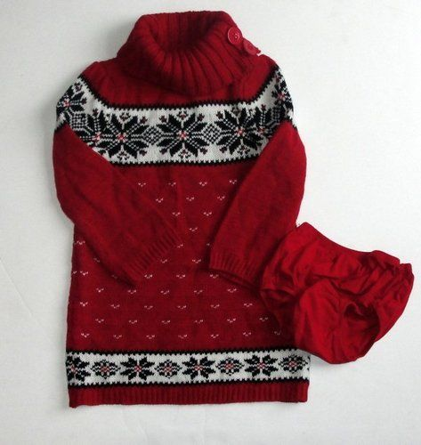 Baby gap baby clothes adorable red holiday fair isle sweater dress