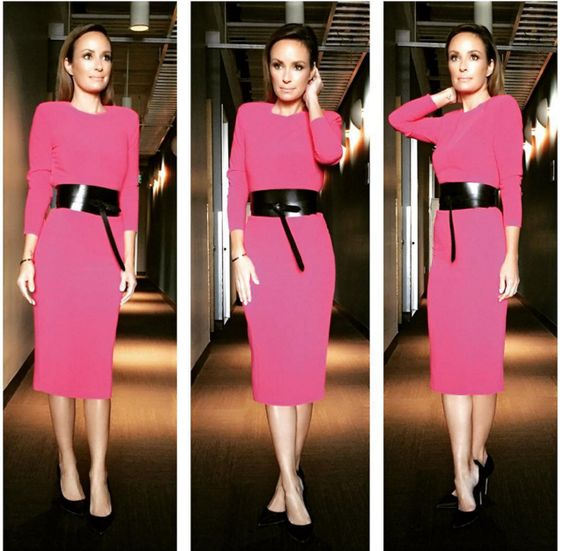 Catt Sadler wearing the Zizon Dress