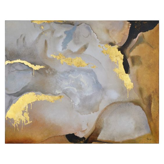 Renwil Golden Gobi Unframed Canvas