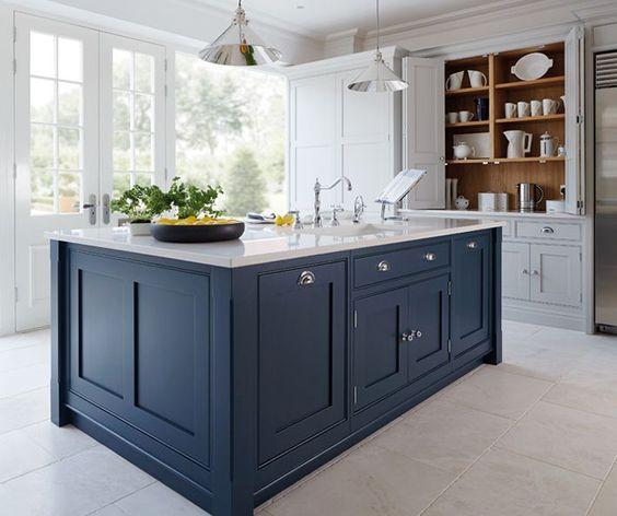 Elegant kitchen island color