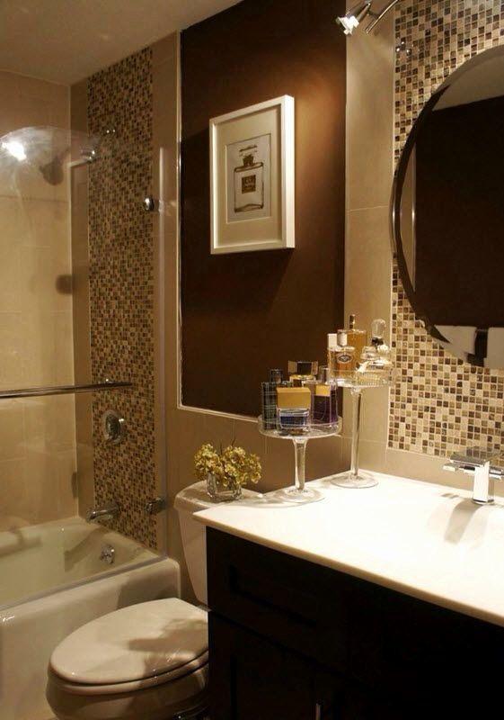 Brown And White Bathroom Ideas Beautiful 40 Beige And Brown Bathroom Tiles Ideas And Pictures Home In 20 In 2020 Brown Bathroom Decor Brown Tile Bathroom Tile Bathroom