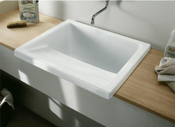 Laundry Sink - http://www.restorationonline.com.au/kitchen-sinks-and-laundry-tubs/laundry-tubs/large-laundry-sink-with-drainer-745-x-640-x-370-mm-including-plug-waste