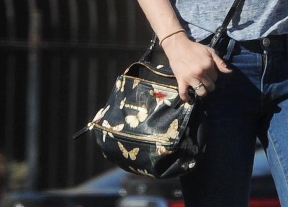 Amanda Seyfried carries a Givenchy Mini 'Pandora' Crossbody