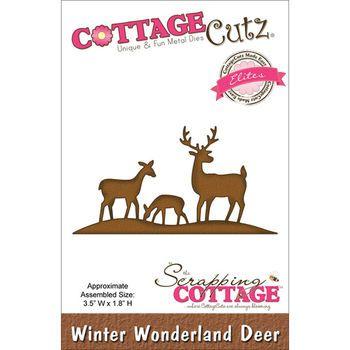 CottageCutz Elites Die Winter Wonderland Deer