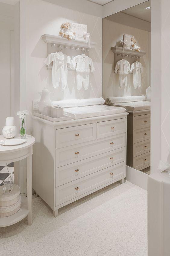 Decoração romântica e toda branca para o quarto do bebê  Constance Zahn  Ta