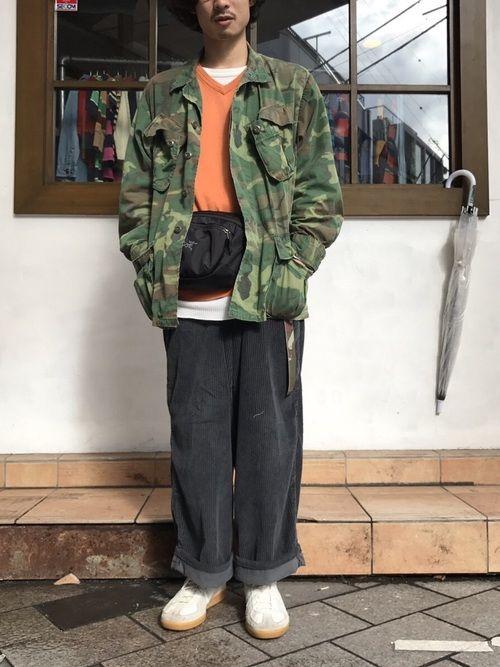 ジャングルファティーグジャケット sneakers looks military jacket how to wear