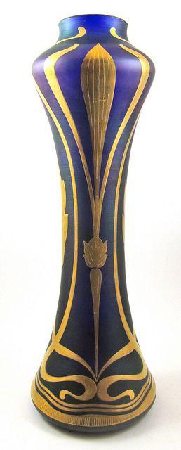 Art Nouveau vase ~ Goldberg ~ 1900: