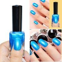 Cute | 1Pc 15ml Shimmer Blue Nail Art Polish Nail Enamel Nail Varnish