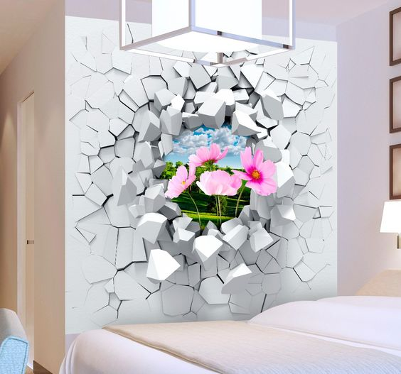 Create a fun illusion on your wall with this great 3-D wall sticker! Personalise with an image of any background that you like. Who wants plain and boring walls? Transform them into something more exciting with this sticker that makes your wall appear that it has a gaping hole from an explosion. Choose your own image to create a look that is perfect for you. Send your image to info@tenstickers.co.uk and we can create a sticker just for you. Many sizes available to suit the space you want