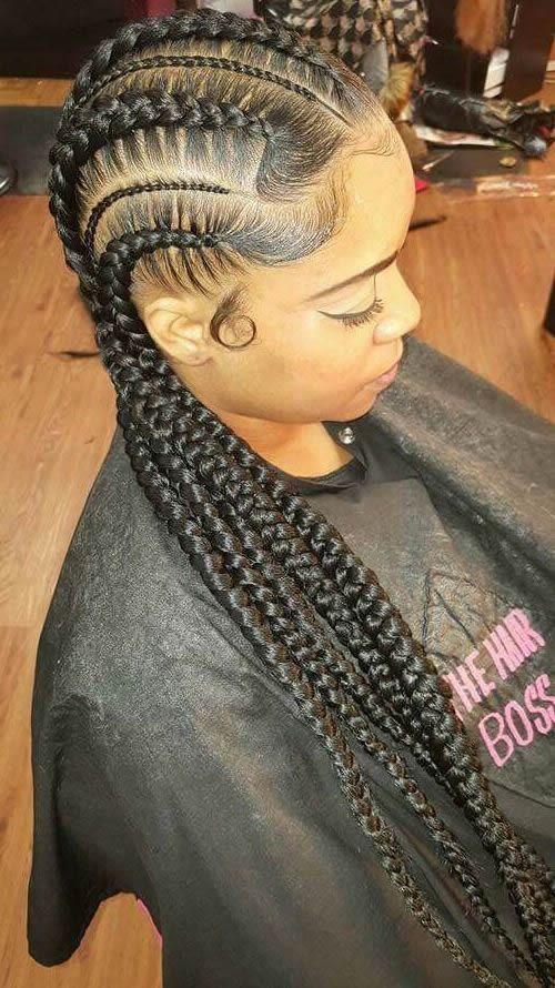 Braided Hairstyles Black Girls And Big Cornrows On Pinterest