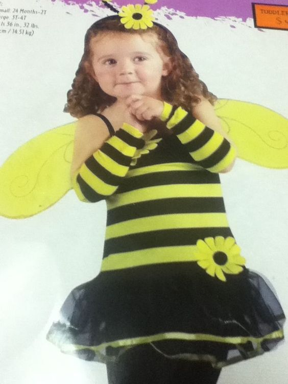 Girls Bumble Honey Bee Child Toddler Tutu Dress Costume 24M/2T #FunWorld #Dress