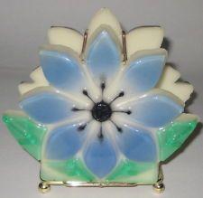FLOWER Shaped LUCITE & METAL Vintage 1960'S BILL LETTER NAPKIN Holder