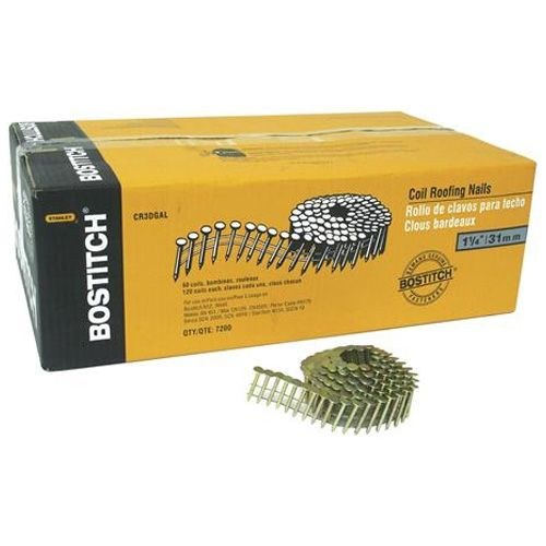 Bostitch Roofing Nails 15 Coil Galvanized 1 1 4 60 Box Cr3dgal Rona Roofing Nails Roofing Coil