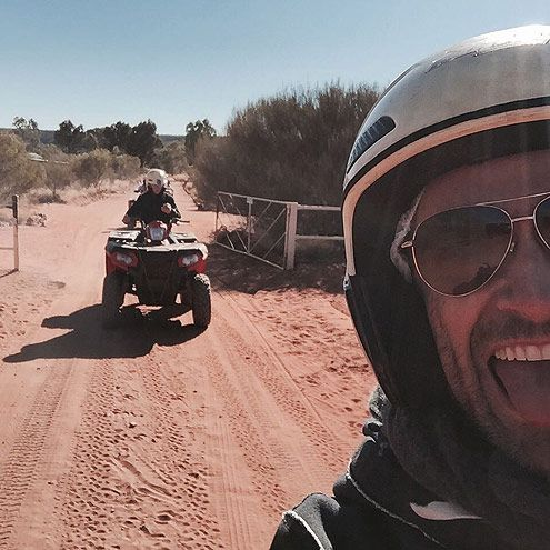 See How Celebs Spent Their Summer Vacation -  Hugh Jackman