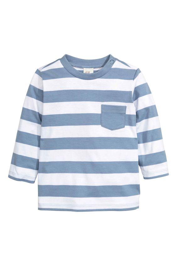 T-shirt met lange mouwen | H&M