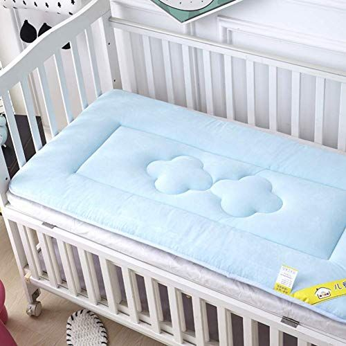 Zzcd Baby Mattress Thicken Crib Mattress Topper Foldable 4cm Breathable Soft Reversible Mattress Color Blu Crib Mattress Topper Crib Mattress Baby Mattress