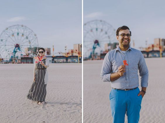 Coney Island Engagement, Amber Gress Photography, Engagement Shoot