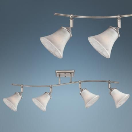 Quoizel Duchess Grey Marble Glass 4-Light Ceiling Fixture