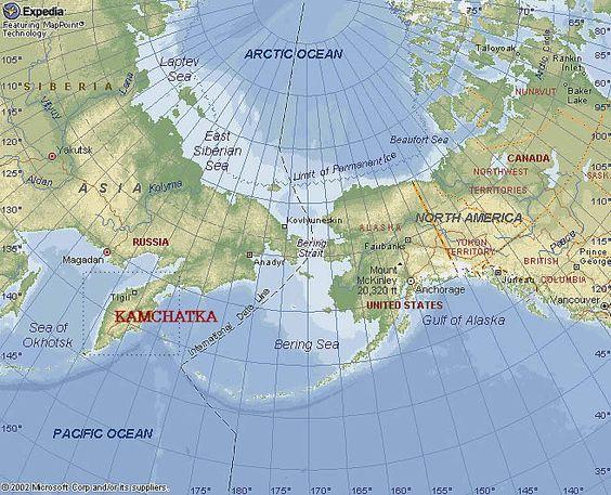 World Map Russia Alaska   Design Templates