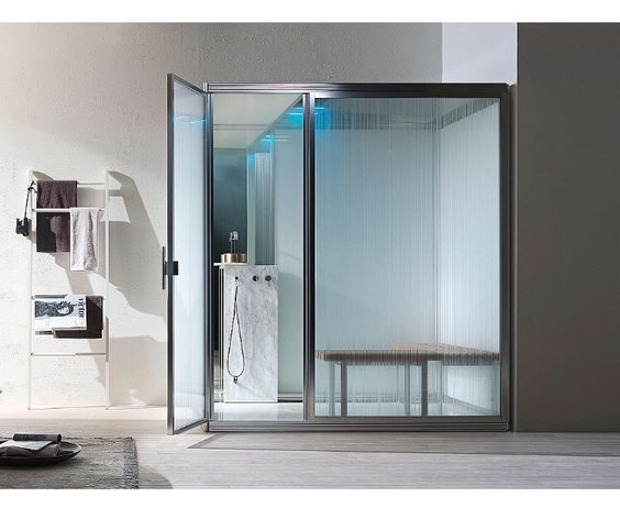 A brilliant modular steam room, perfect for the smaller installation.