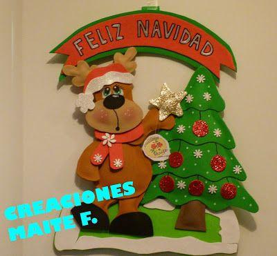 Navidad and manualidades on pinterest - Trabajos en goma eva navidad ...