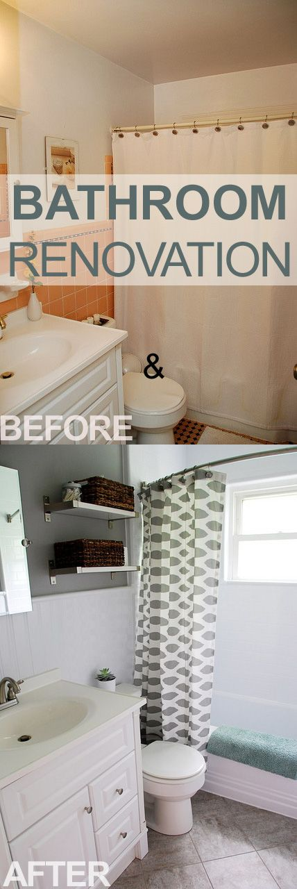 Great before and after!  Especially if you have tile in a color you don't like!