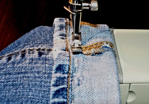 Ourlet jeans invisible - Laissons Lucie Faire