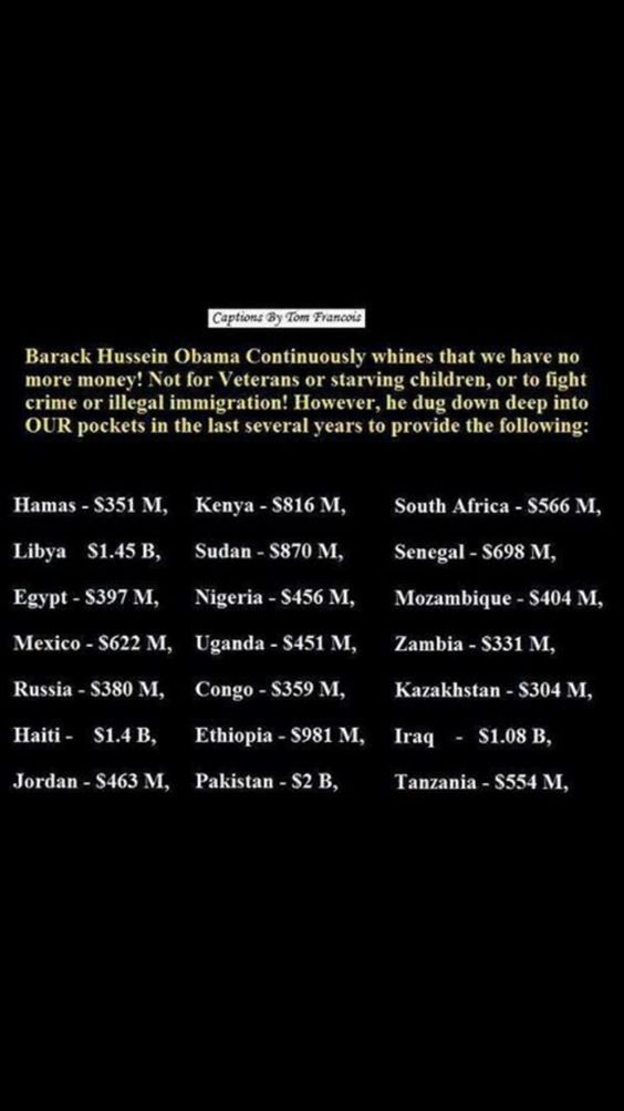 Obama payouts to Terrorist Groups