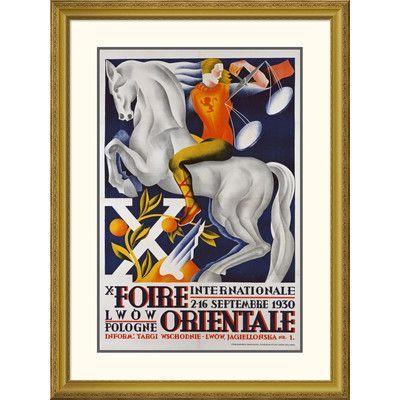 Global Gallery 'Xe Foire Orientale' Framed Vintage Advertisement Size: