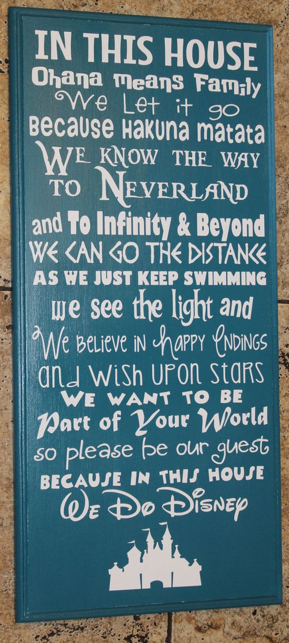 In this House WE DO DISNEY hand-painted sign by createexpectations