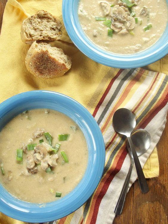 Cauliflower mushroom, Creamy cauliflower soup and Soups on ...