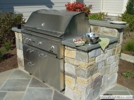 Built in grill built ins and outdoor on pinterest for Outdoor patio built in grills